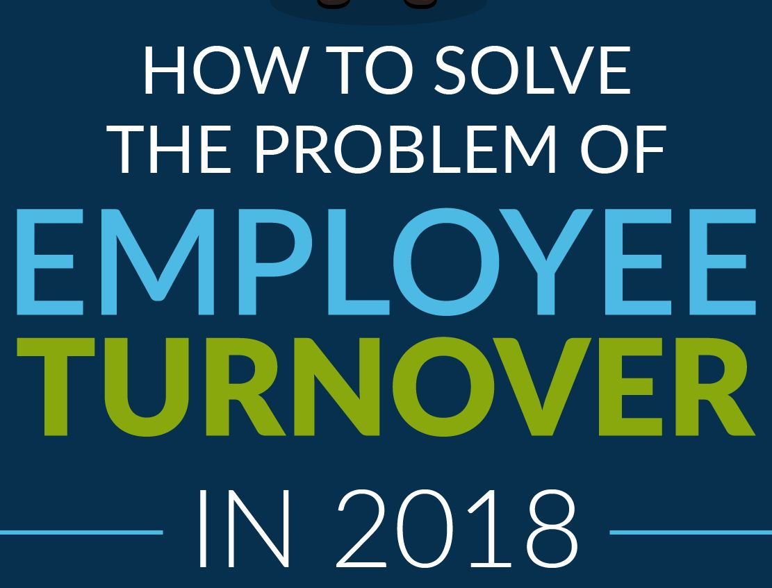 how to solve employee turnover infographic cover