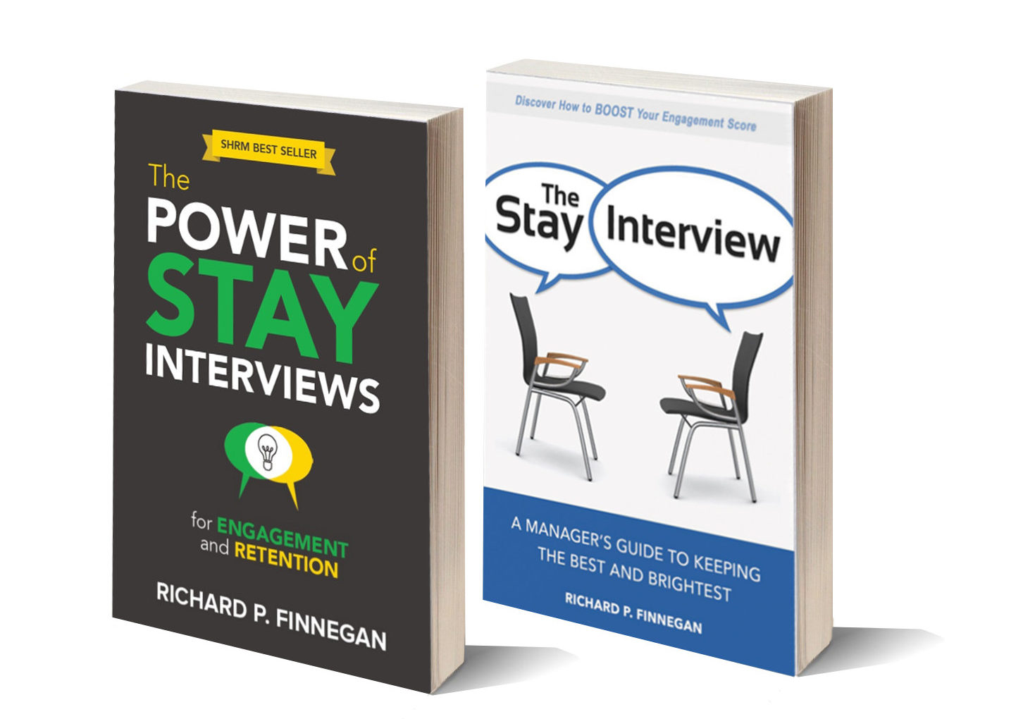dick finnegan books on stay interviews new covers